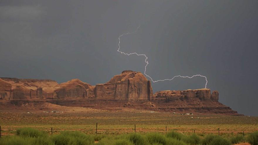 Lightning strike, Utah
