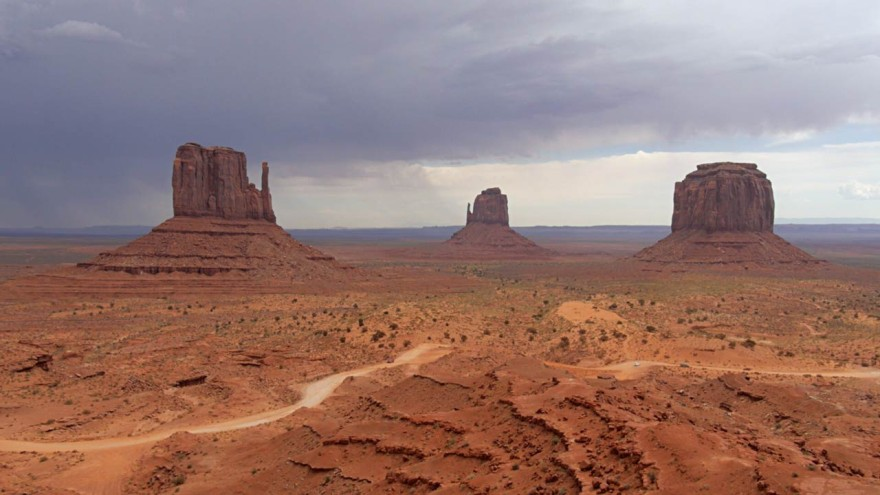Classic viewpoint of Monument Valley