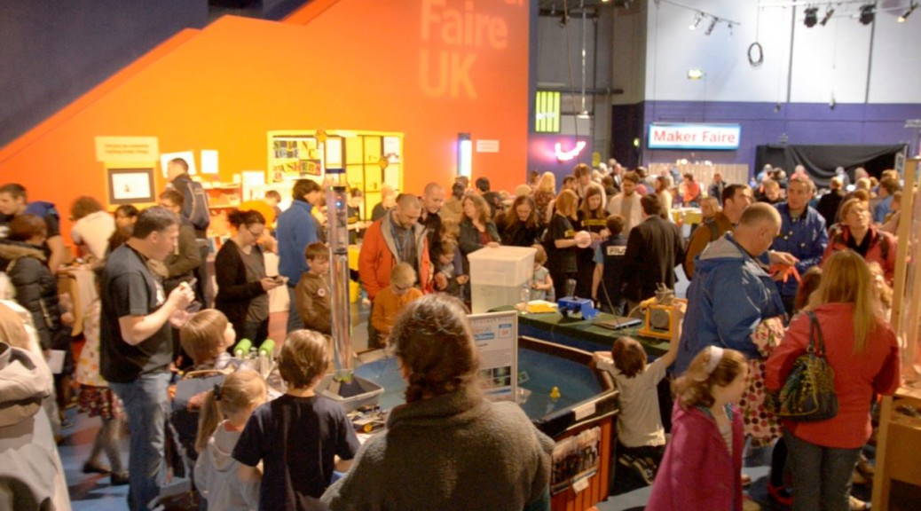 Maker Faire UK - a general shot of the hall at the Centre for Life