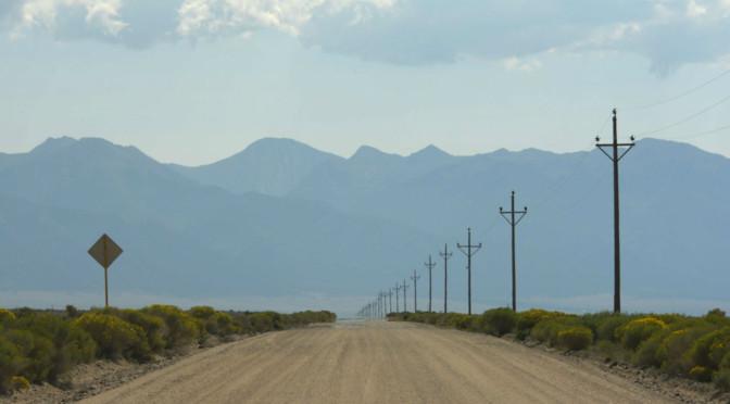 A gravel road in Colorado
