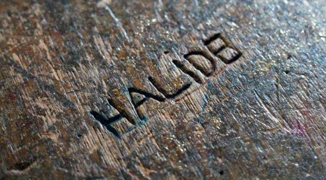 Graffiti on a school desk