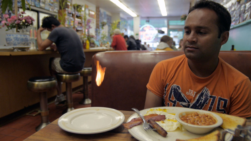 One of Alom's favourite demos in our favourite San Francisco diner