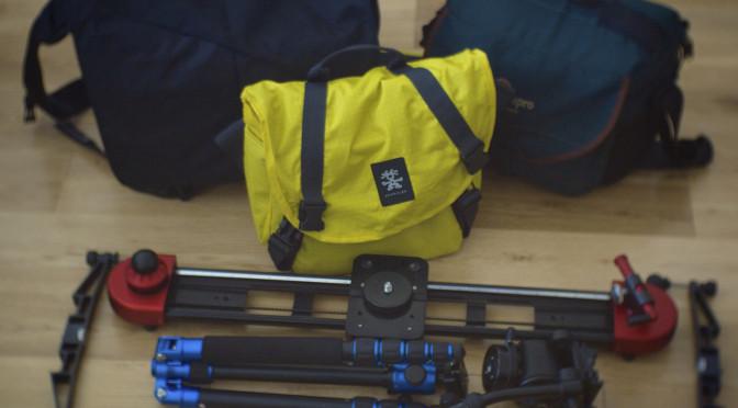 USA documentary shooting kit, packed.